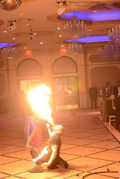 Fire Performers in NY at Elite Palace