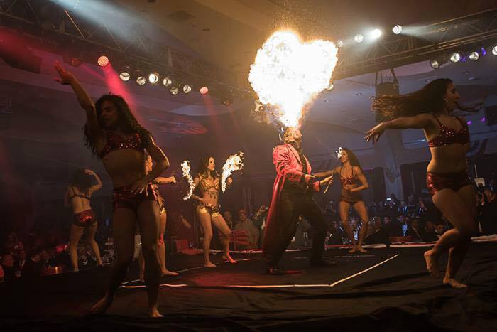 Fire Performers at Fight Night in DC at Washington Hilton - Celebrities & Politicians