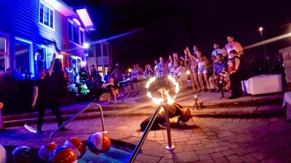 Fire Performers at Jones Beach NY