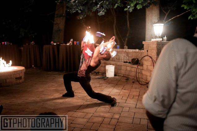 Fire Performers in NJ Ashwin's Graduation Party