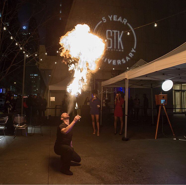 Fire Performers at STK Midtown Timesquare