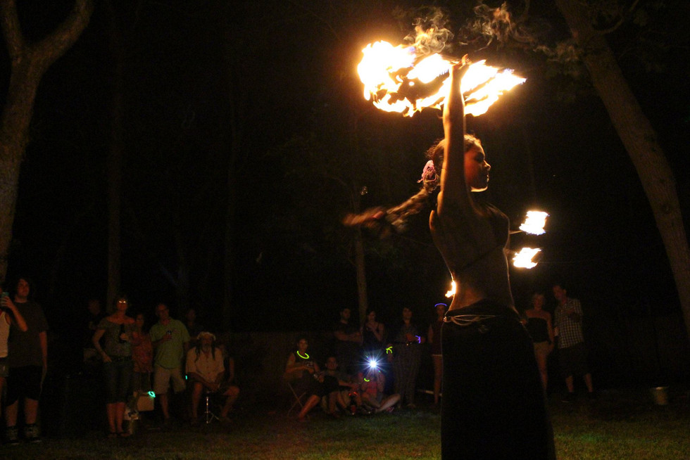 Fire Performers in NY at Jillians Party 28