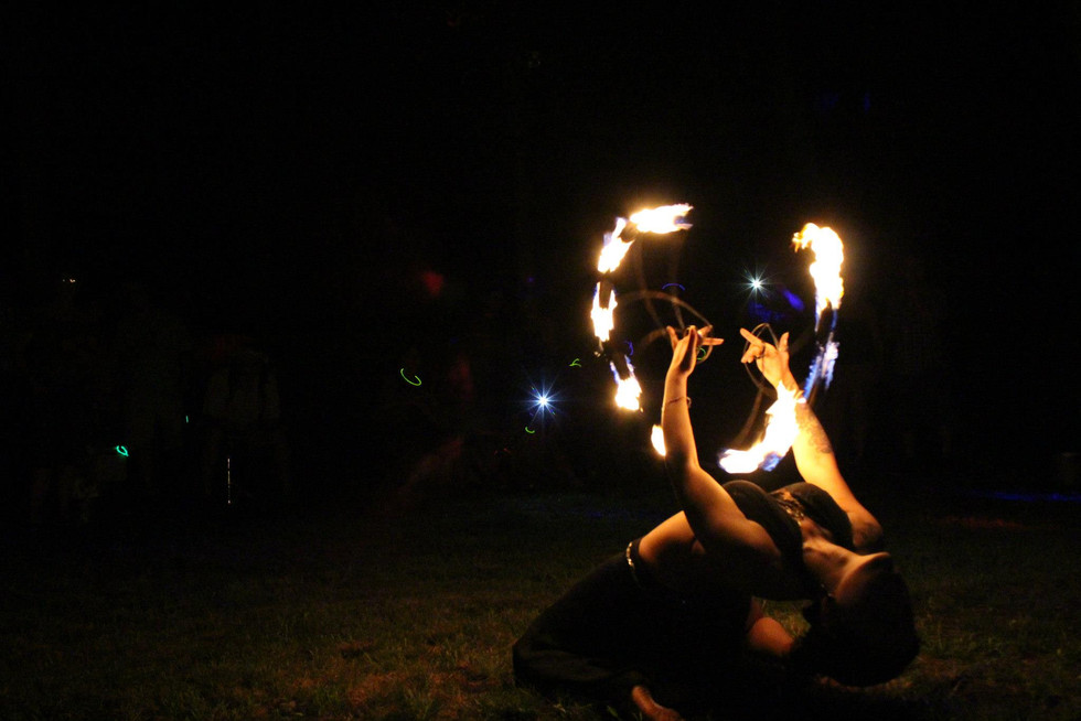Fire Performers in NY at Jillians Party 21