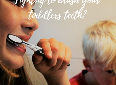 Fighting to brush your toddlers teeth?