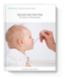 e-guide called Solids and Routine for the first three years wrtten by Dawn Whittaker of Cheekychops
