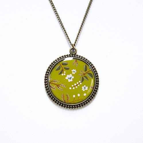 Lilipoetry — Collier 25 TR Floral Olive