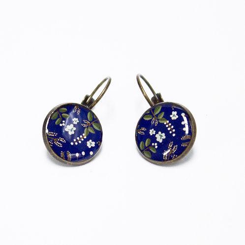 Lilipoetry — Boucles d'oreilles MM Floral indigo