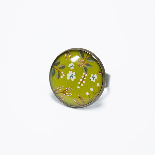 Lilipoetry — Bague MM Floral Olive