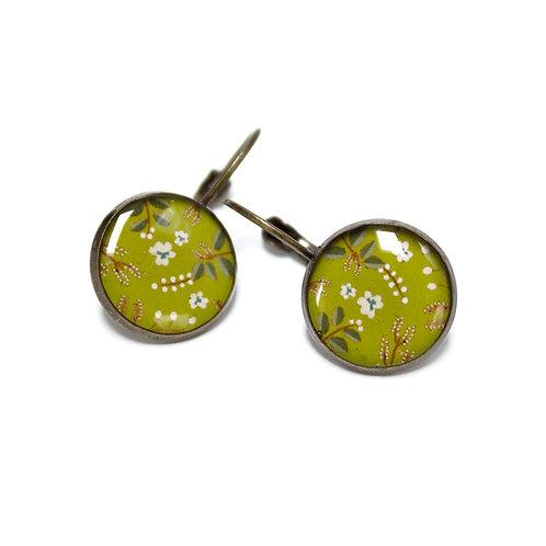 Lilipoetry — Boucles d'oreilles MM Floral olive