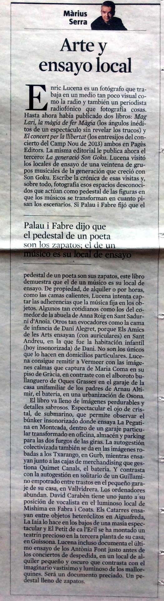 La Vanguardia. 27 desembre 2014
