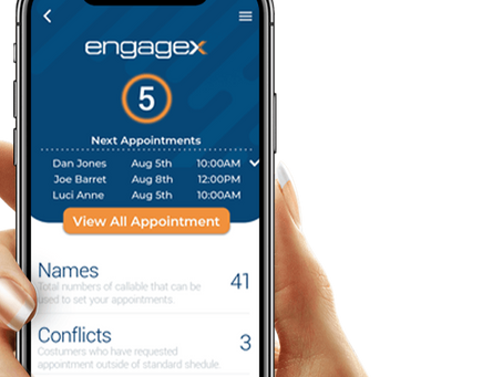 How can I access my Engagex account while on the go?
