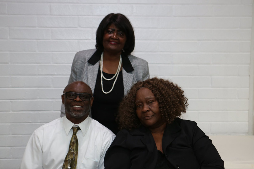 Dr. Darryl Pearson, Lead Teacher and former Assistant Principal in Lynwood Unified School District; Fannie Jones, former President of Lead Teachers Association; and Mary Johnson