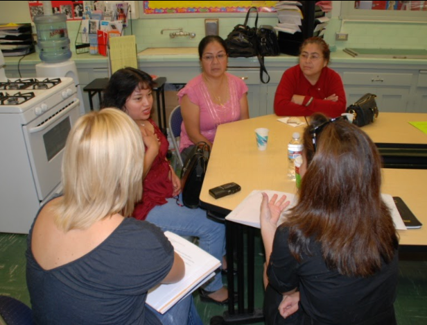 Parents collaborate on advocacy strategies at South Gate High School Parent Center
