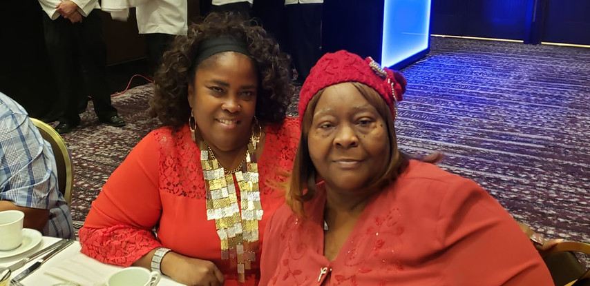 JC Cohee, Vice president of the District African American Advisory Parent Council (DAAAPC), and Mary Johnson presenting at an educator's conference in Los Angeles, CA