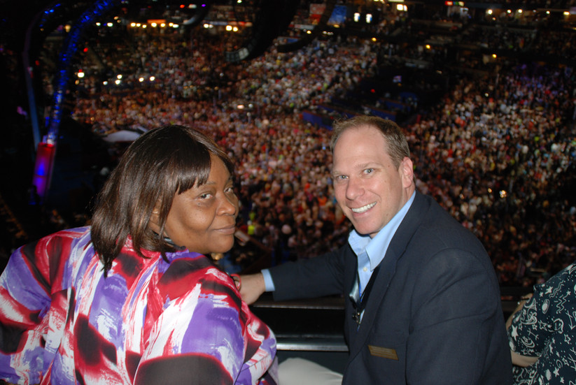 Mary Johnson and Dr. Anthony Collatos, Professor at Pepperdine University & Director of Urban Parent Teacher Education Collaborative (UPTEC) at the Democratic National Convention in Denver, CO