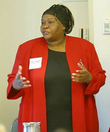 Mary Johnson's first trip to the AERA Conference, as a parent researcher - Chicago, IL (2001)