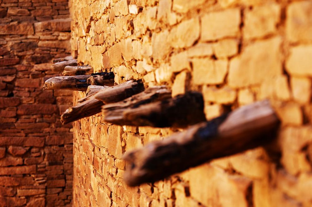 Pueblo Bonito - Ceiling beams