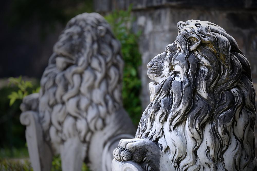 Peles Castle statue