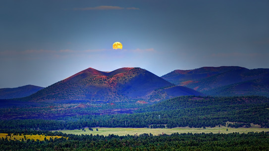 Full Moon over Sunset Crater Volcano - Flagstaff, AZ