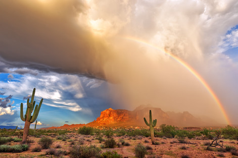 Rainbow over Superstitions - Apache Junction, AZ