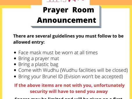 Prayer Room - Ramadan 2021