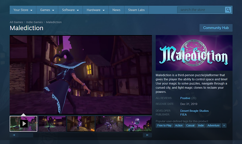 malediction on steam