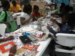 Kids enjoying service projects
