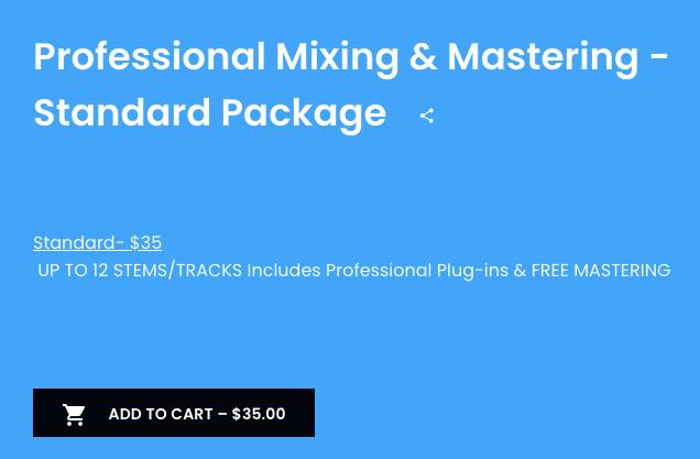 Audio Engineering Services Standard