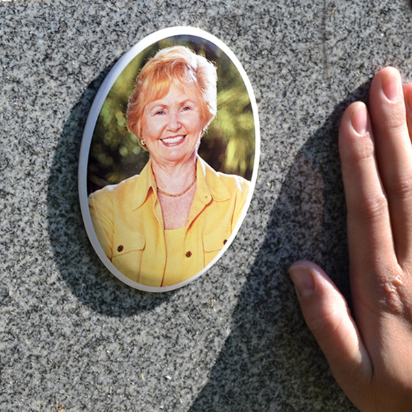 Porcelain Headstone Pictures | Oval Photos for Headstones