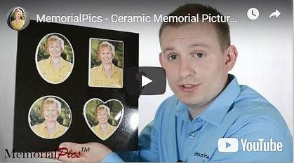 Ceramic Headstone Picture Plaques