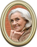 Oval Picture for Headstone with Frame