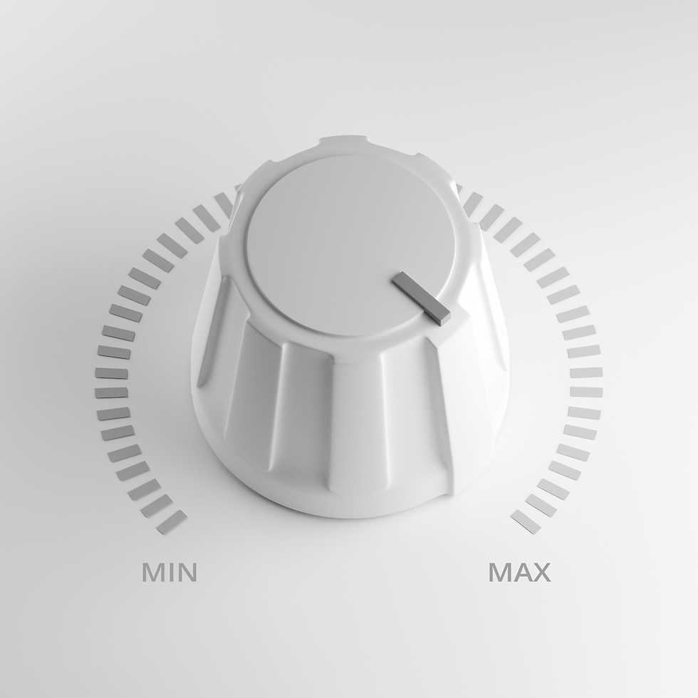 A white dial