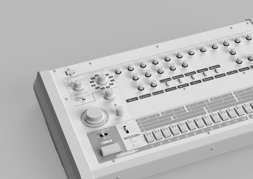 A white synthesiser