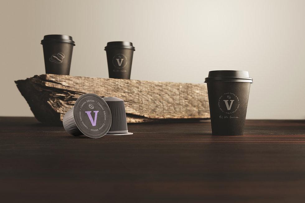 Coffee mug and capsules