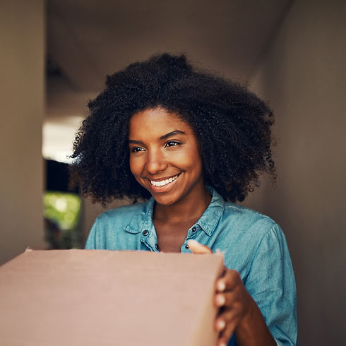 Woman receiving a package