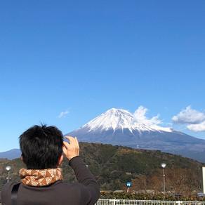 富士山とボス
