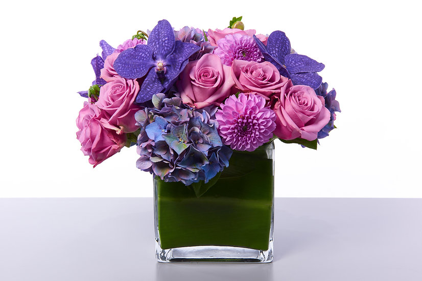 Purple Orchids & Purple Roses