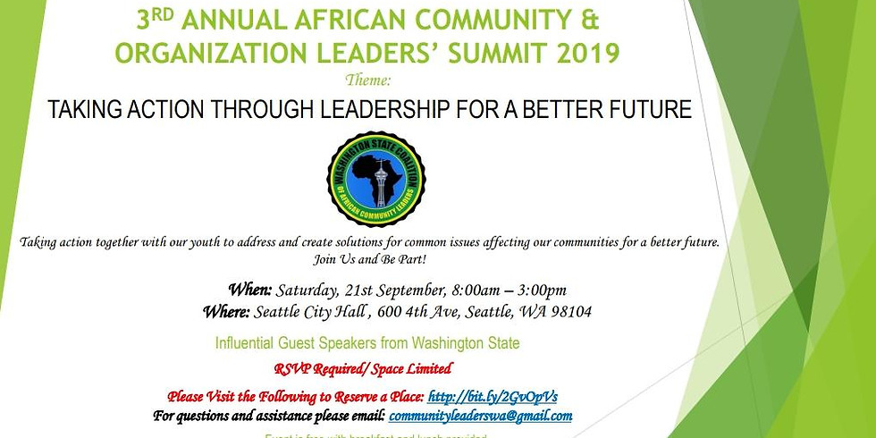 WA State Coalition of African Community Leaders