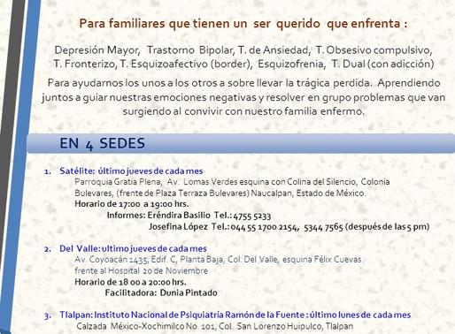 Grupos de apoyo de Voz Pro Salud Mental CDMX