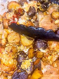 Garlic Panko Parmesan Roasted Potatoes