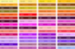 Перечень цветов или палитра краски для рекламы на асфальте Montana Black