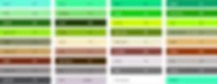 Цветовая палитра краски для рекламы на асфальте от российского производителя Артон.