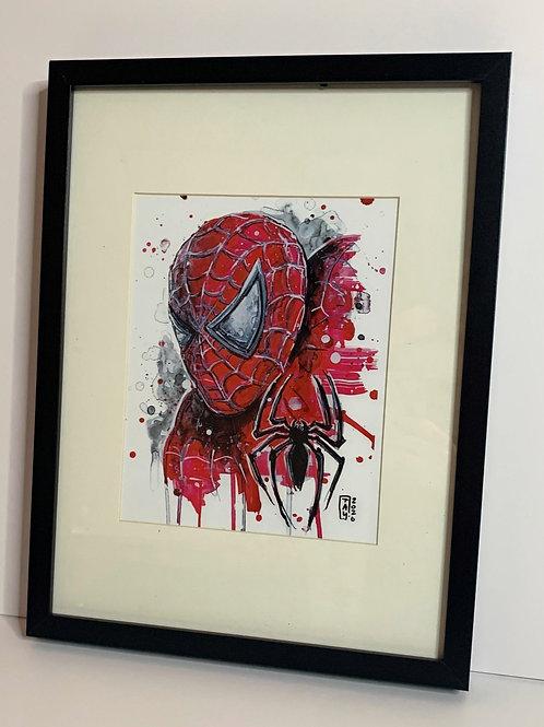 PICK UP ONLY - Framed Spiderman - 13x17