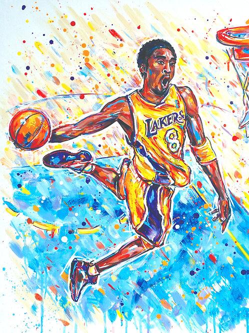 Slam Dunk KB Basketball Art Print
