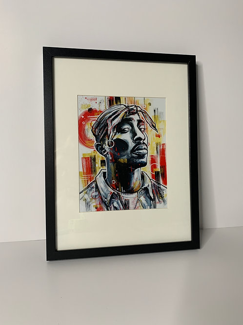 PICK UP ONLY - Framed Tupac - 13x17