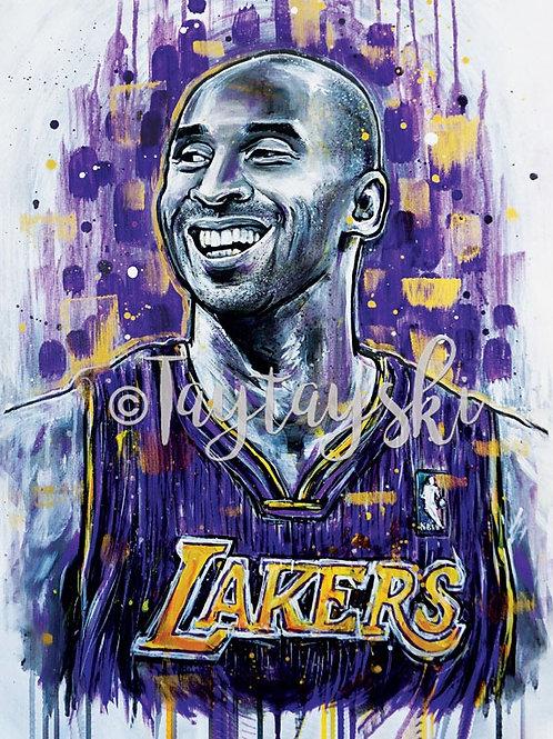Tribute KB Basketball Art Print