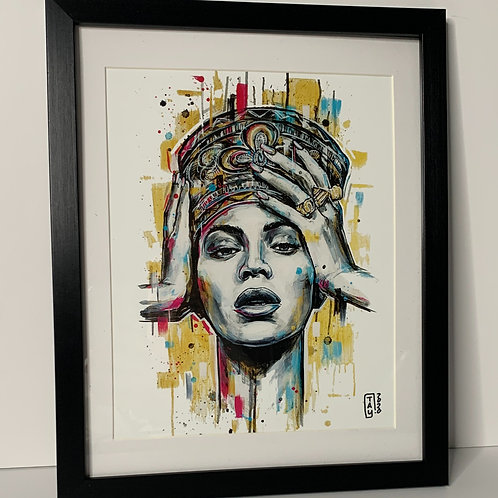 """PICK UP ONLY - Framed Beyonce - 10.5""""x12.5"""""""