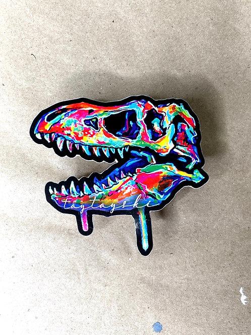 Trex Skull Sticker