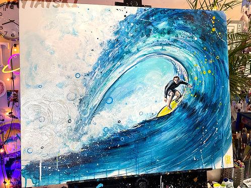 Surf's Up! Original painting