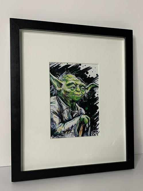 "PICK UP ONLY - Framed Yoda - 11x13"""